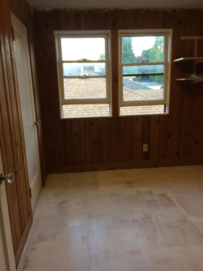Upstairs Bedroom Floors Primed