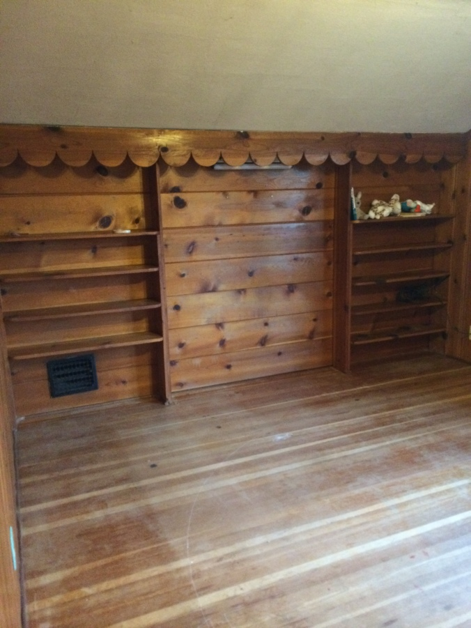 Upstairs Bedroom Floors Before