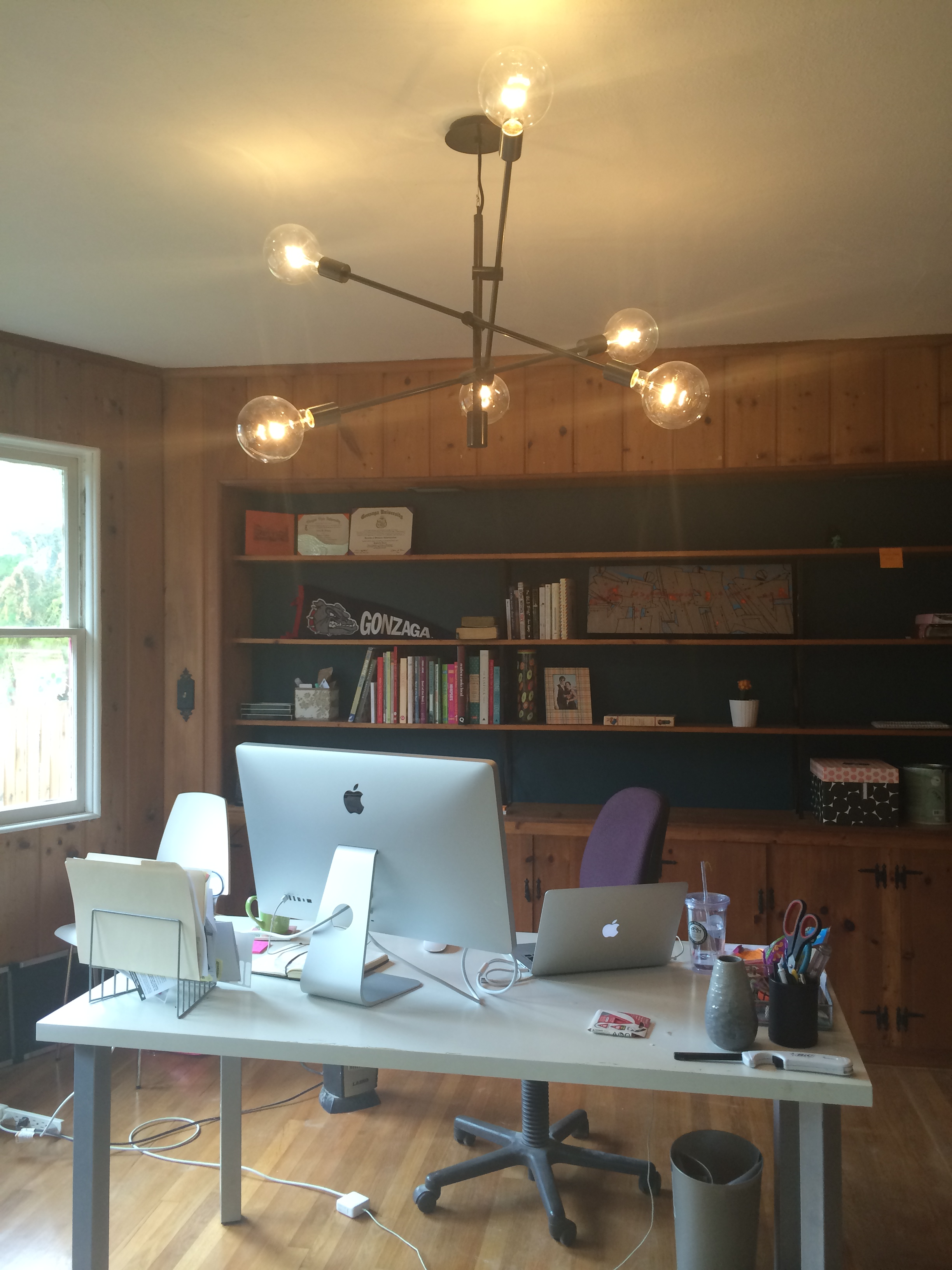 West Elm Mobile Chandelier In Office