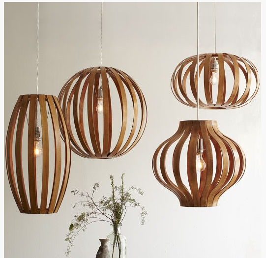 West Elm Bentwood Pendants